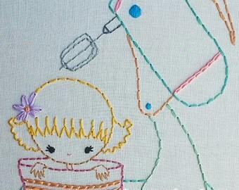 Kitchen kids- Pyrex, Mixer, and Soup bowl kids Digital Embroidery Patterns