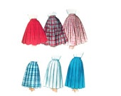 60s uncut Full Skirt pattern vintage pattern 32-25-34 waist 25 petticoat pattern Party skirt 50s bobby sox Rockabilly pattern
