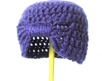 Amethyst Crochet Turban - 1920s Style Flapper Cloche Beanie - Soft and Luxurious Crochet Hat for Baby / Toddler / Girl / Woman