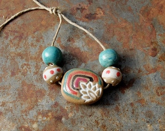 Mystery Flower / Ceramic Bead Set