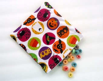 Halloween Treat Bag, Halloween Snack Bag, Reusable Snack and Sandwich Bag