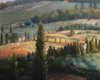 Chianti Tuscany Italy Original Oil Painting