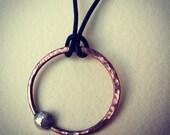 Copper & Sterling Silver Orbit Pendant
