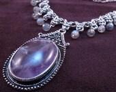 Gypsy Queen - Chain Maille Necklace - Amethyst - Labradorite - Byzantine - Vagabond