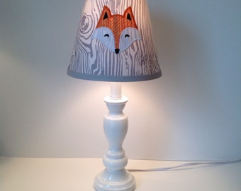 Woodland Fox Custom Lamp Shade
