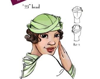 NVL 1930s Cap Hats 23 head in PDF 4179