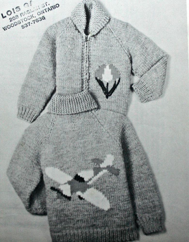 Cardigan Knitting Pattern Kiddies Cardigan Airplane Sizes 2