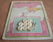 Antique Mother of Pearl BABY BUTTONS on Card