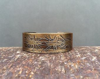saguaro cactus cuff bracelet | cactus bracelet | copper cuff bracelet | brass cuff bracelet