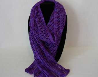 Purple Glow Wrap knitting PATTERN - lacy modern minimalist knit wrap or scarf - permission to sell finished items
