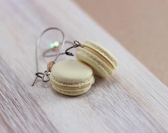 Vanilla Macaron Earrings
