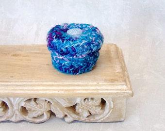 Handmade Star Box - Decorative Treasure Trinket Jewelry Basket - Unique Blue Purple Lavender Home Decor Keepsake - Gift for Dreamer STB094