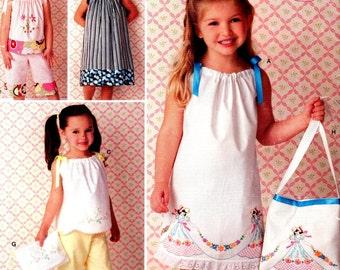 Simplicity 0460 PILLOWCASE DRESS, Top, Pants Sz 3-8