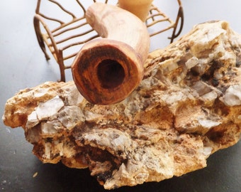 Chillum Tobacco Pipe made from Fragrant Cedar Sculptural Branch Wood Rustic Pipe Small Pipe Natural Pipe Smoking Pipe