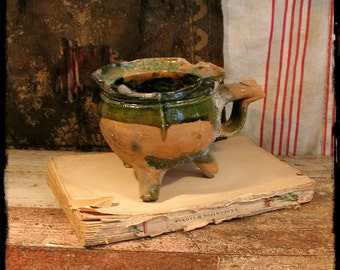 French Antique Kitchen Crockery, antique kitchen, French ceramic, French traditional pottery, traditional pottery, rustic, primitive