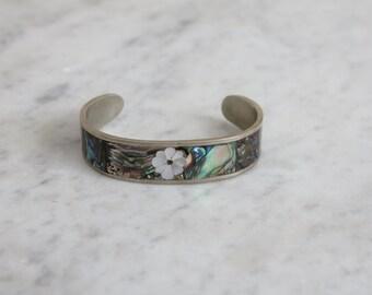 inlay bracelet / cuff bracelet / shell bracelet