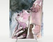 """Sexy Watercolor Shower Curtain, Watercolor painting, Art, """"A Sensual Moment"""" Original abstract Nude Goddess by Kathy Morton Stanion  EBSQ"""
