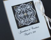 Personalized 5oth Wedding Anniversary Photo Album Gift  Beaded Vintage Design 5x7 Brag Book, Will you marry me?