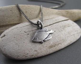 Handmade Sterling Silver Charm - Sunfish