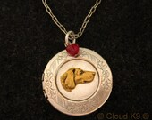 VIZSLA LOCKET Necklace. VIZSLA Jewelry, by Cloud k9 ... Vintage Style Jewelry for Vizsla Dog Lovers. Viszla Jewelry.