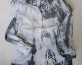 SALE hand dyed upcycled enhabiten silk and cotton top tunic
