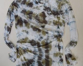 SALE hand dyed upcycled enhabiten cotton jersey tee long sleeve