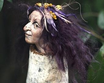 Witch Amanda, Halloween, Kräuterhexe, handmade decoration