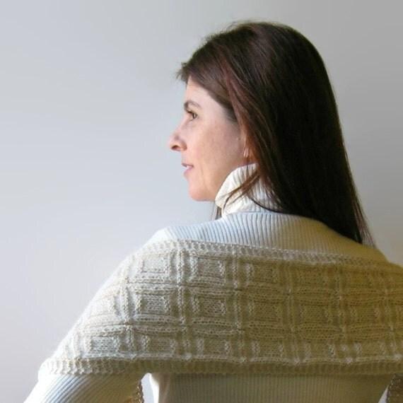 White Llama Scarf, Hand Knit Scarf, Winter Scarf, Llama Scarf, Womens Scarves, Mens Scarf, Knit Shawl, Organic Yarn, Wrap Scarf
