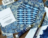 Calling Cards / Business Cards/ Blogger Cards Shibori - Set (50) / Watercolor / Painted / Brushstroke