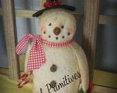 Primitive snowman