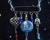 William Shakespeare Inspired Necklace/Brooch