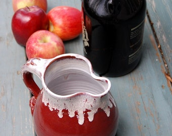 Half Gallon Pitcher in Red Agate - Made to Order