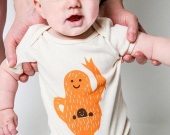 Organic Pouch Baby Onesie