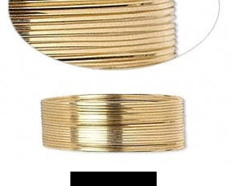 Wrapping Wire 12Kt Gold-Filled half-hard Square 26 gauge 5' feet GF HH SQ 26GA #1251 Made In America!
