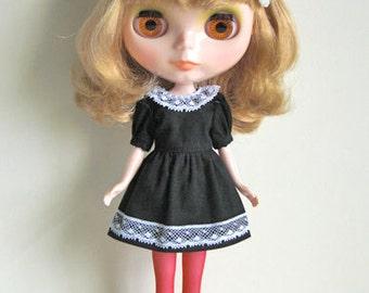 Cherry,chocolate&cream dress set for Blythe doll