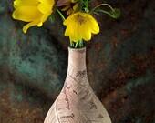 Bud Vase with Three Ferns