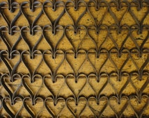 Vintage Metal Heart Door Mat | Antique Heart Door Mat | Old Heart Door Mat