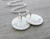 Silver Name Necklace Silver Necklace Personalized Necklace Personalized Silver Name Necklace Mother Necklace Personalized Jewelry