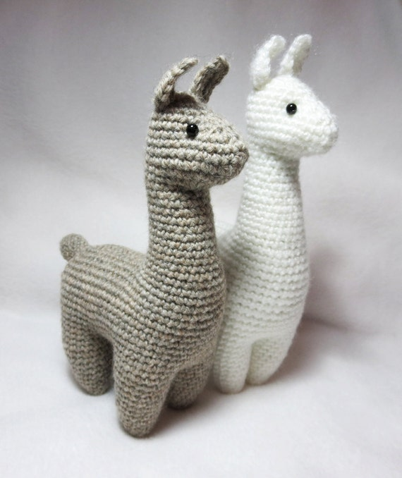 Amigurumi Stuffed Animals Patterns : Crochet Pattern: Llama Amigurumi Plush