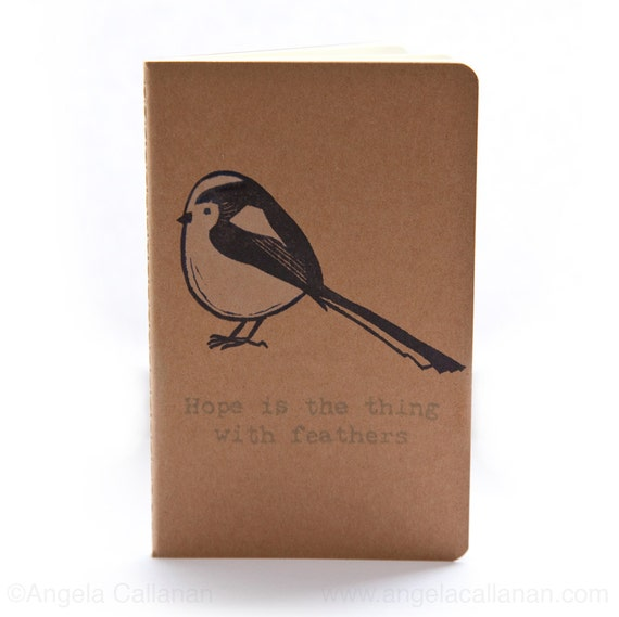 Long-Tailed Tit, Hand Printed Moleskine, Journal, Notebook