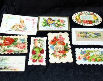 Lot of 13 Vintage Victorian Calling and Greeting Cards