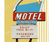 Wi-Fi Password - WiFi Sign - Printable - Guest - Digital Art - Vintage sign