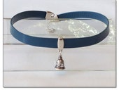 Slave Bell Blue Leather C...