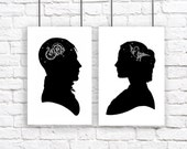 Stars Constellation Silhouette Large Print  Set Their Minds Are Full Of Stars Astronomy Night Sky Black and White