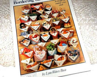 Bordering On Basketliners, 36 Designs for Counted Cross Stitch, Lynn Waters Busa, Joy, Country Welcome, Kiss The Cook, Reindeer   (814-15)