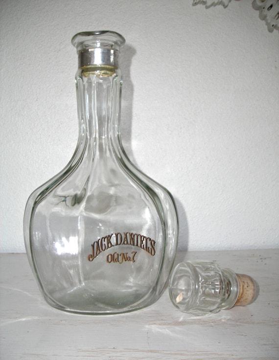 jack daniels whisky carafe grand vintage verre bouteille. Black Bedroom Furniture Sets. Home Design Ideas
