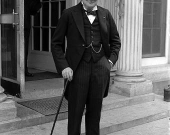 Historic Prime Minister Winston Churchill Print (1929)