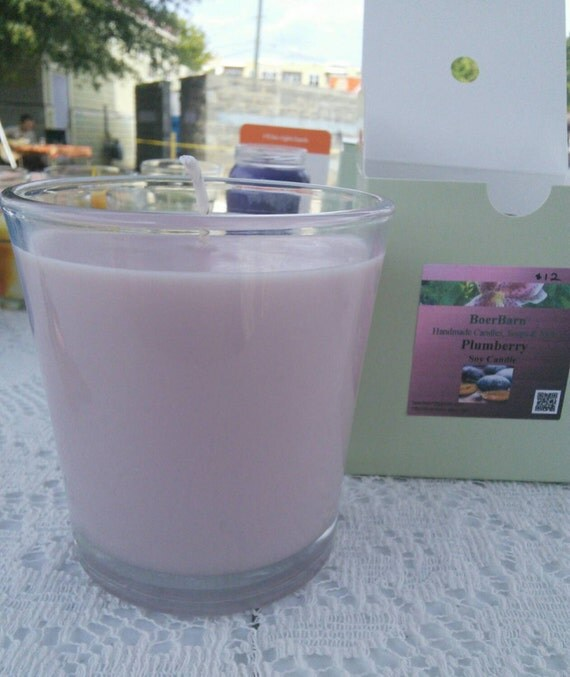 Plumberry Soy Candle in a 9 oz. Tumbler Jar