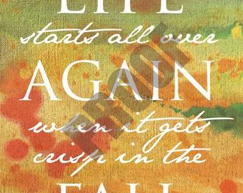 11x14 PRINTABLE Fall Inspirational Print