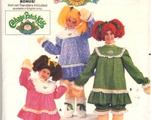 1980s Butterick 6919 Childs Cabbage Patch Costume Pattern Soft Sculpture Legs Hands Wig Vintage Sewing Pattern Size Large  B 28 - 30 UNCUT